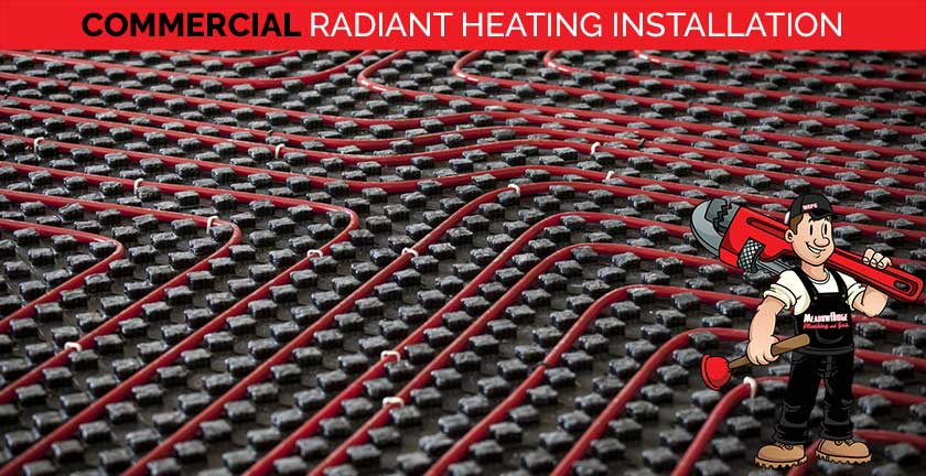 commercial radiant heating installation